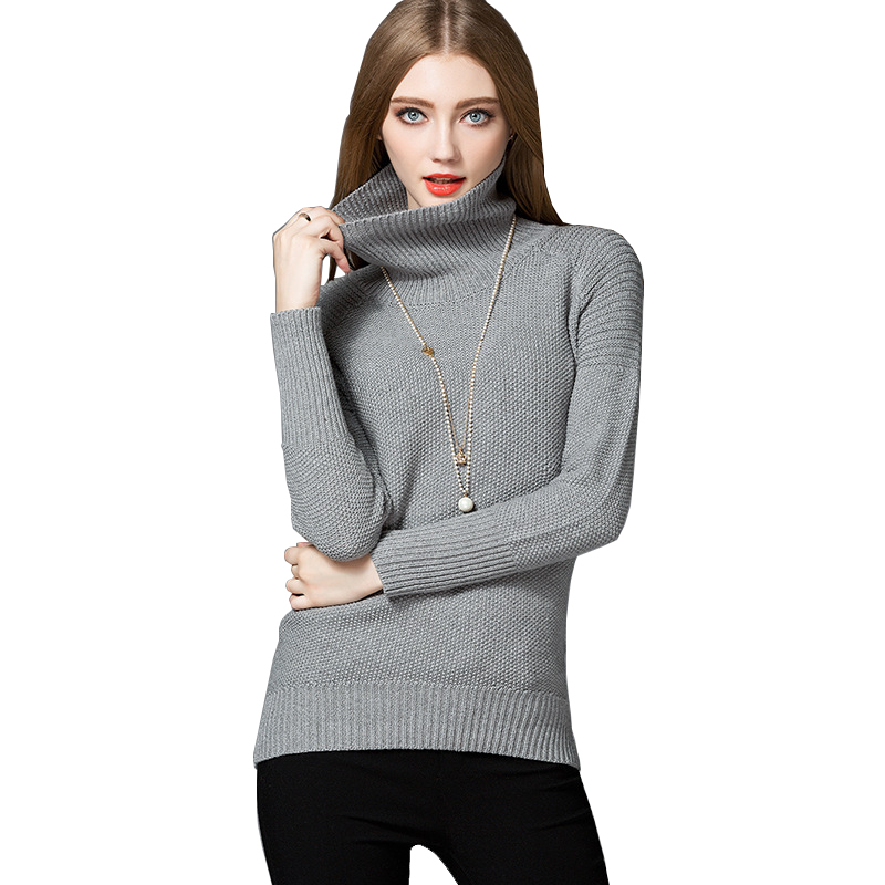 High quality winter sweater 2018 new design turtleneck warm sweater pullover for girls