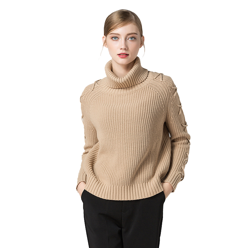 2018 New collection winter turtleneck warm sweater for women